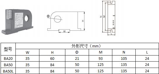 安科瑞BA20-AI交流电流传感器,量大从优示例图4
