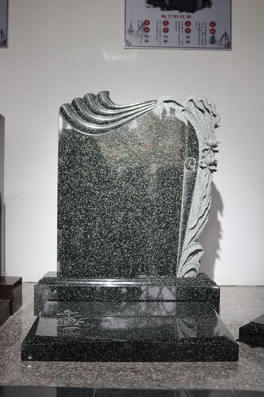墓碑厂家批发直销印度绿墓碑 艺术墓碑 价格优惠订做示例图1
