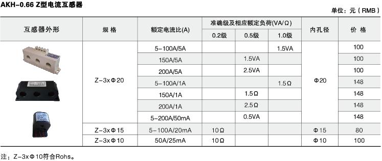 安科瑞,测量型电流互感器,AKH-0.66-40I,额定电流比10-75/5A示例图39