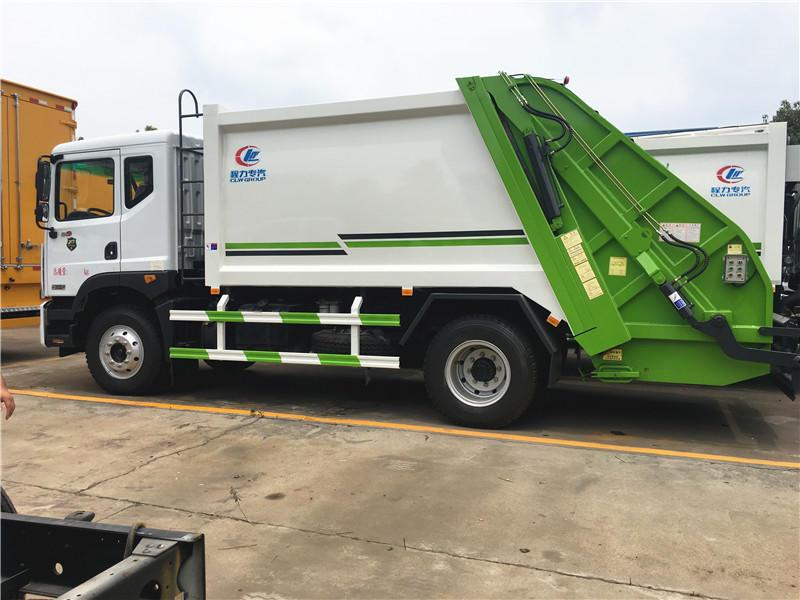 东风多利卡D9压缩式垃圾车12方,垃圾清运车,垃圾挤压箱运车,最新优惠价格联系我们示例图7