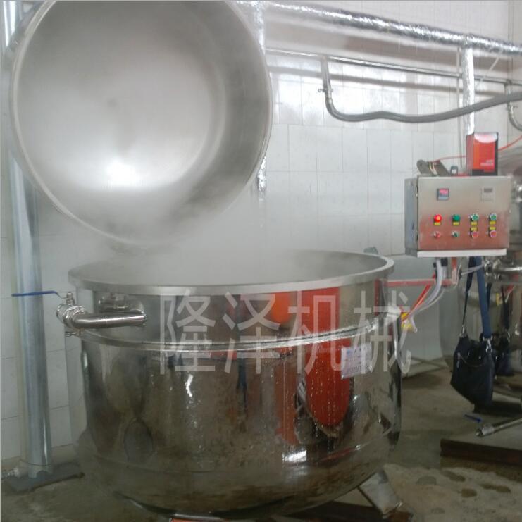 山東隆澤地瓜條真空浸糖鍋 藍莓浸糖生產設備價格 果蔬蒸煮浸糖生產線示例圖7