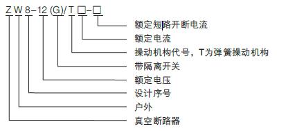 ZW8-12户外真空断路器 ZW8柱上高压开关10KV示例图1