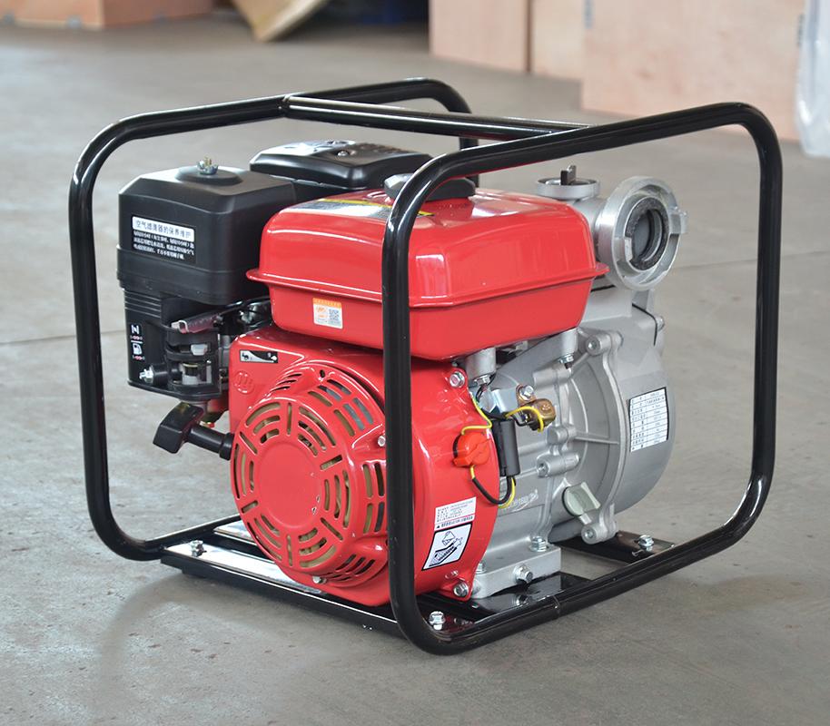 上海喜之泉红色双动力消防泵,手抬式消防泵,移动消防泵,小型消防泵示例图3