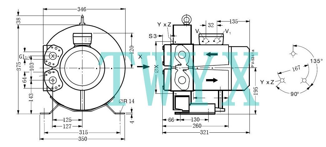 气环式鼓风机,气环式高压风机示例图2