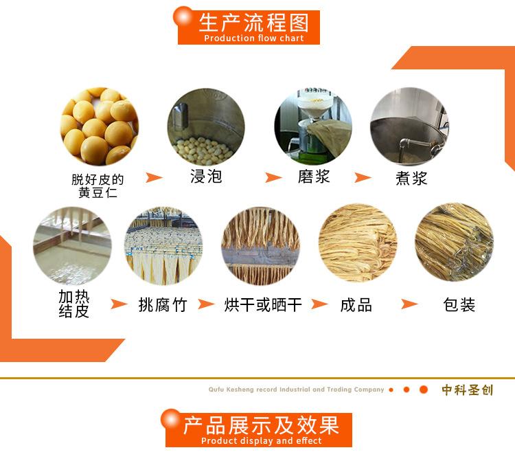 多种型号不锈钢腐竹成型锅铝水槽 半自动腐竹机设备生产线价格示例图5