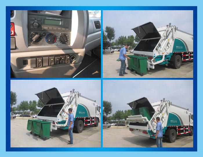 东风多利卡D9压缩式垃圾车12方,垃圾清运车,垃圾挤压箱运车,最新优惠价格联系我们示例图10