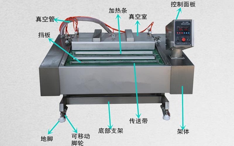 智能型全自動粵式臘肉全自動真空包裝機 商用豆干滾動連續包裝機  真空包裝機示例圖10