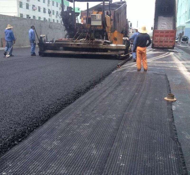 厂家直销EGA玻纤土工格栅 沥青路面专用玻纤土工格栅50KN沥青路面示例图8