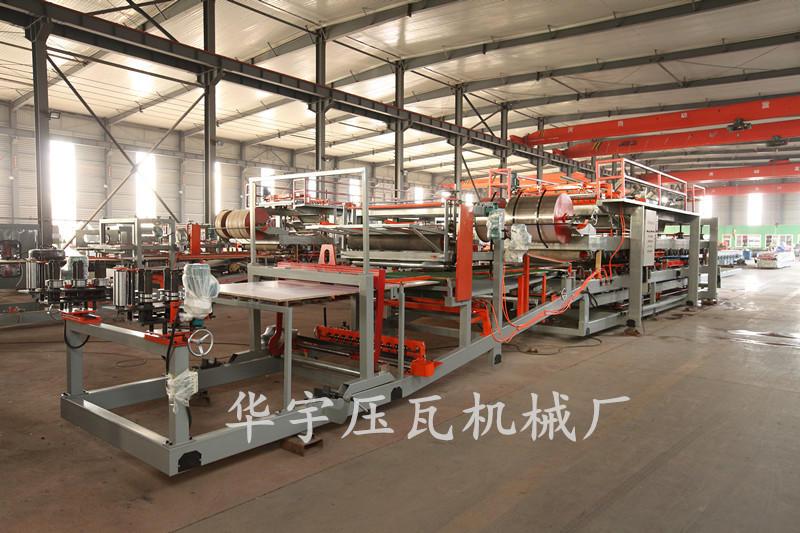 华宇全自动复合板机 岩棉夹心板生产设备 180mm胶轴岩棉机 彩钢复合板生产线示例图8