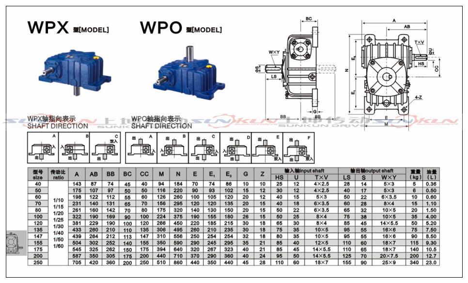 厂家特价 铸铁 蜗轮蜗杆法兰型WPDA/S/O/X减速机 批发 速比10-60示例图9