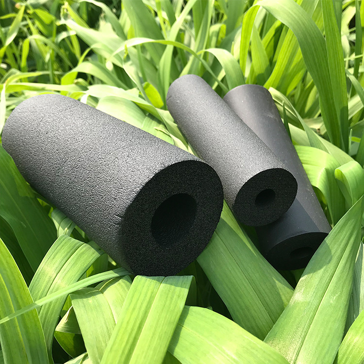 厂家直销彩色橡塑管保温材料耐高温隔热建材高密度橡塑保温管示例图5
