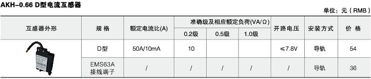 安科瑞,测量型电流互感器,AKH-0.66-40I,额定电流比10-75/5A示例图41