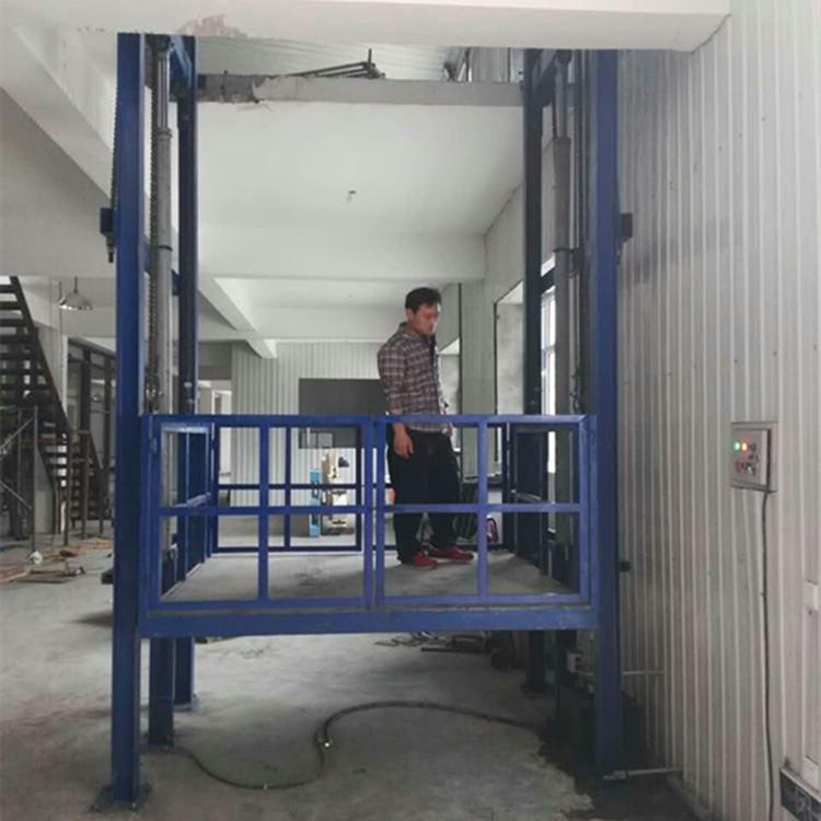 固定链条式升降货梯 壁挂导轨式液压货梯 小型简易货梯 升降机