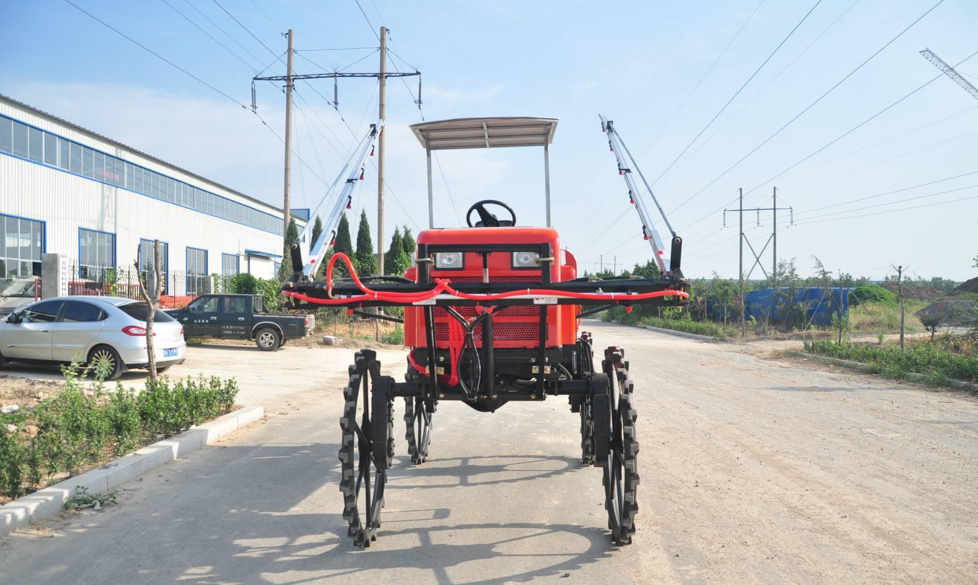青州爱科植保机械 自走式水稻喷杆喷药机 喷雾