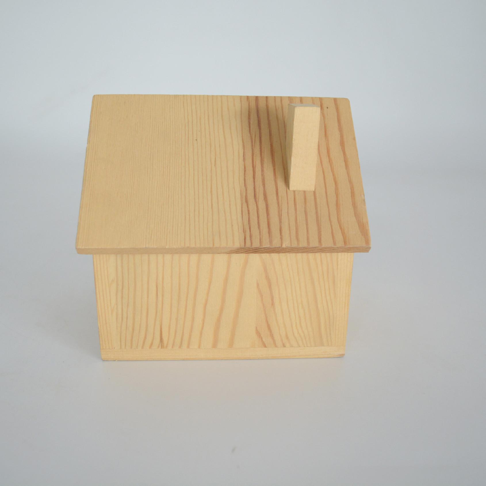 创意大容量小房子存钱罐 木质储蓄罐 摆件模型生日礼品