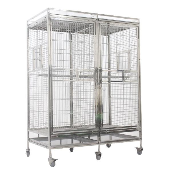苏力厂家304不锈钢鸟笼 钢枝方管金属笼 玻璃门笼 品质可靠 欢迎订购