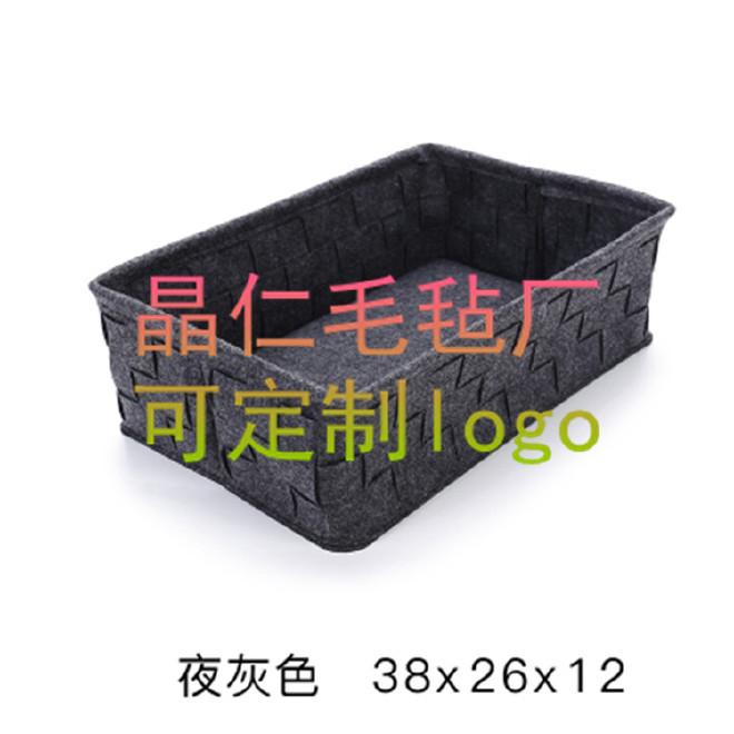 毛毡便签桌面无纺布收纳筐护肤品杂物置物筐储物篮子 可定制尺寸示例图6