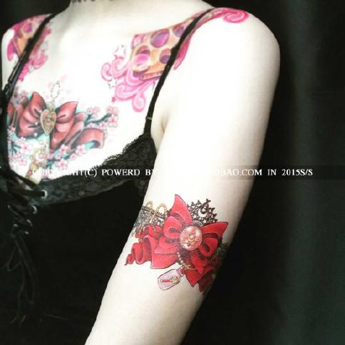一套2张A4包邮独家定制少女纹身腿环美蕾丝战该什么做女生v少女图片