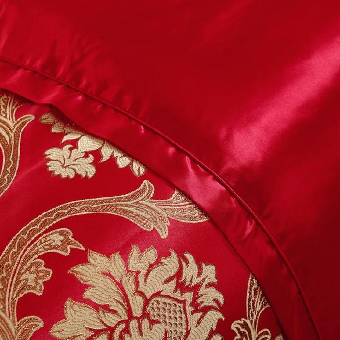 高档 美容床罩四件套七件套 大红色按摩床罩熏蒸床 通用款可订做示例图8