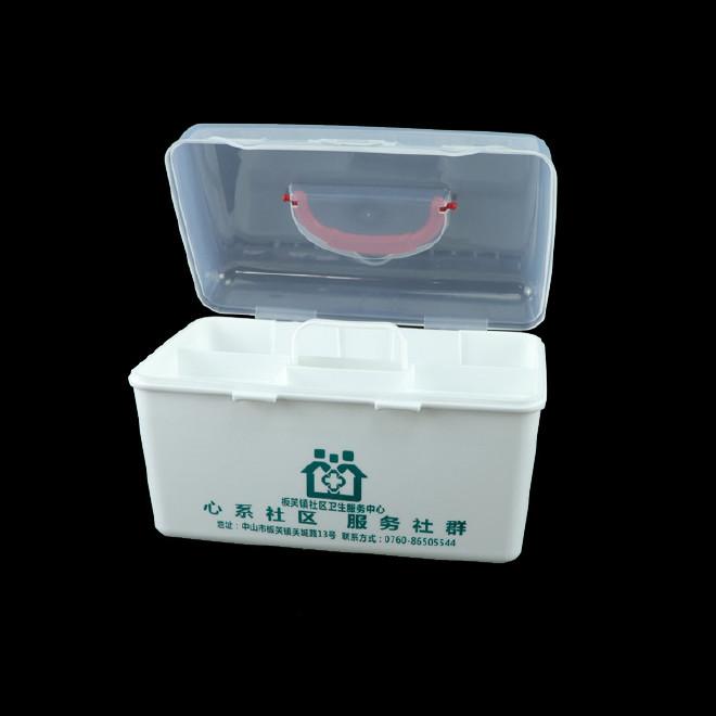 厂家直销塑料药箱 家用药箱 药品收纳箱手提箱药房赠品扶贫保健箱示例图26