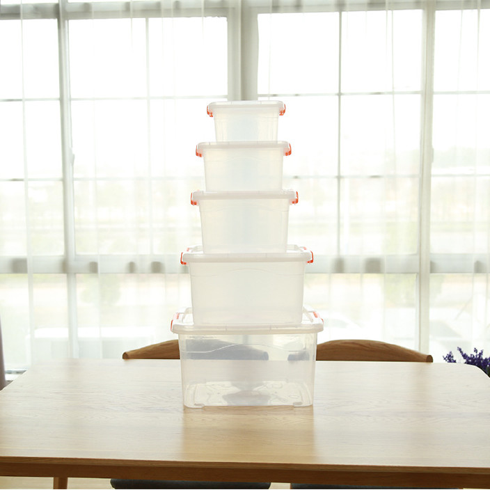 厂家直销塑料收纳箱透明小中大号收纳盒车载储物箱整理玩具箱批发