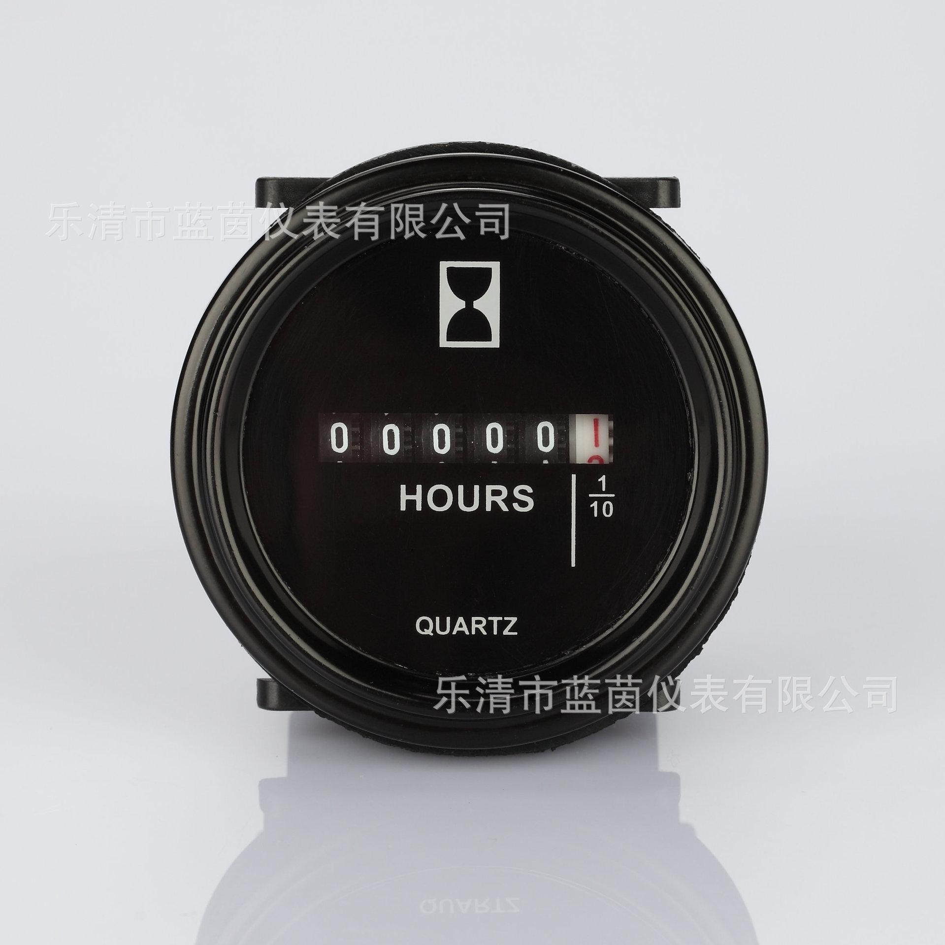 蓝茵SH-1工业计时器 工程车挖掘机累时器 装载机圆形计时器小时表