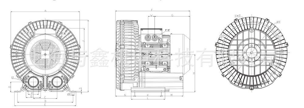 高压漩涡风机 离心风机 工业强力鼓风机 真空泵旋涡式气泵 鱼塘增氧机示例图9