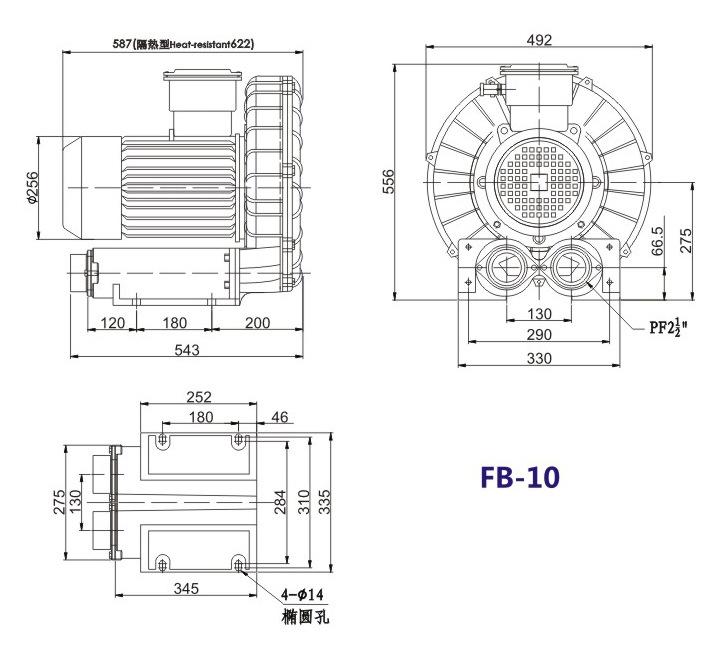 哈尔滨油气输送防爆高压风机 FB-25油气输送防爆高压风机 厂家直销防爆风机示例图18
