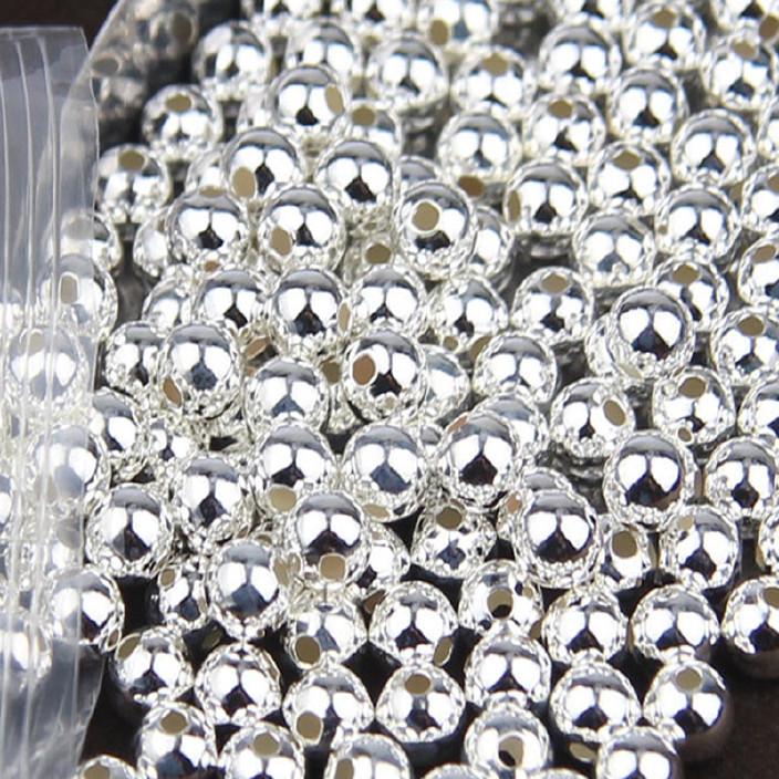 S925纯银散珠音响直销光珠厂家银珠DIY君力佛珠图片