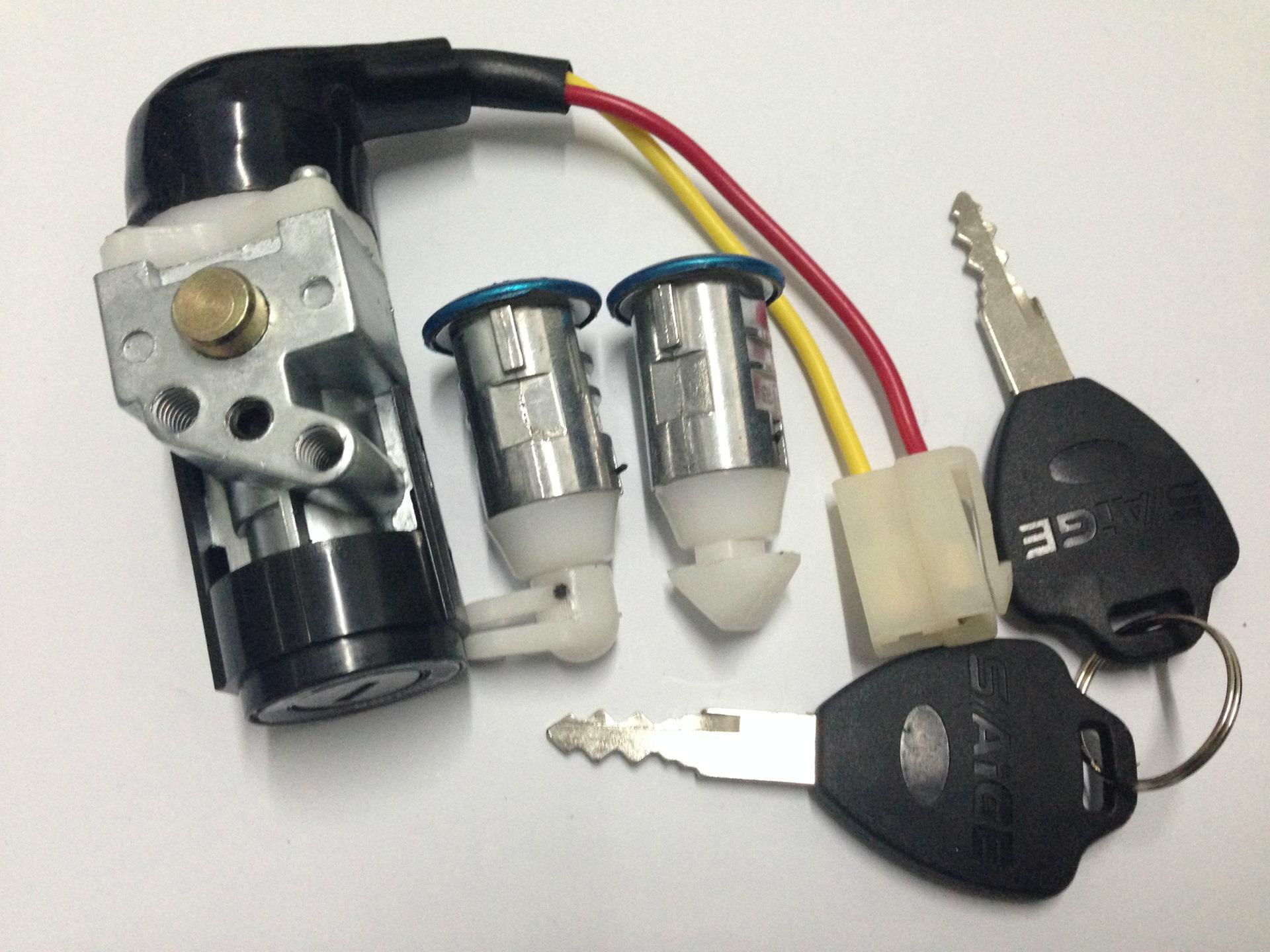 厂家直销二轮三轮电动车套锁小沙电门锁