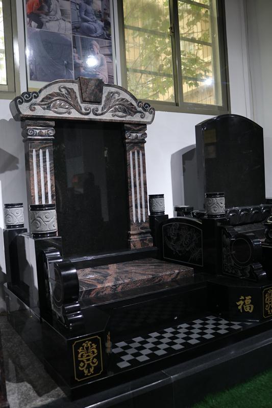定制墓碑豪华碑山西黑墓碑艺术墓碑陵园碑广东墓碑厂家直销示例图11