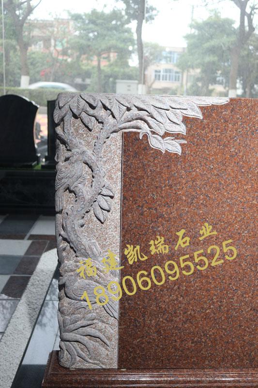 四川墓碑工厂批发直销印度红墓碑 艺术墓碑 小型生态节地墓碑可定制示例图3