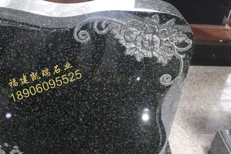 湖南墓碑厂家直销公墓艺术墓碑 印度绿艺术墓碑 豪华墓碑可定制示例图3