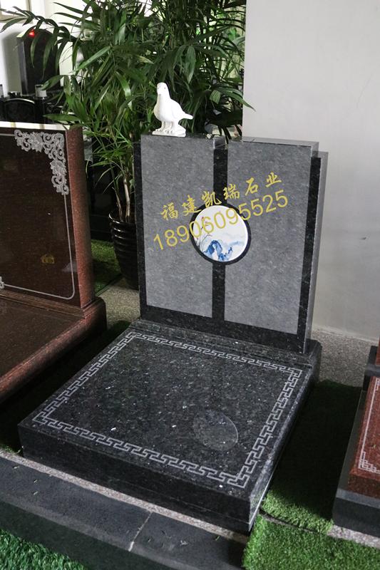 云南墓碑厂家直销小型艺术墓碑 瓷画艺术墓碑 节地生态墓碑示例图6