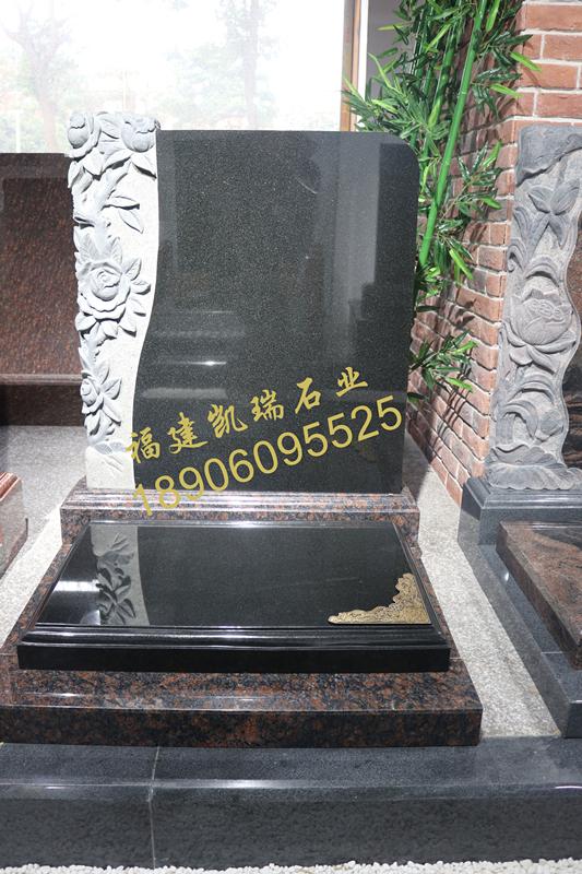凯瑞墓碑厂家直销山西黑墓碑 艺术墓碑个性化定制 量大价格从优示例图1