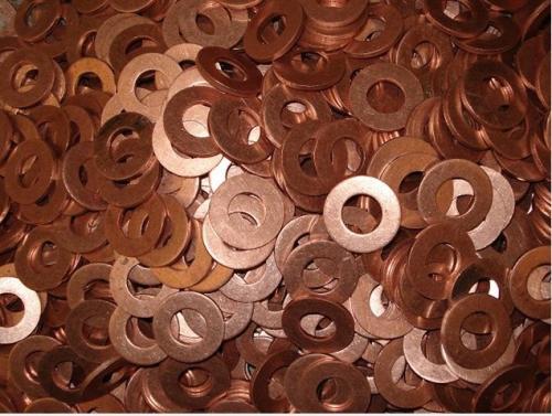 异形紫铜垫加工定制 紫铜垫片生产厂家 压力表用紫铜垫片 船舶专用紫铜垫片示例图4