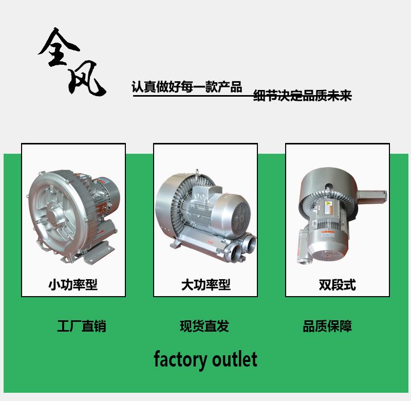 上海400w380v小功率高压风机 工业吹吸两用真空泵 高压吸尘风机示例图1