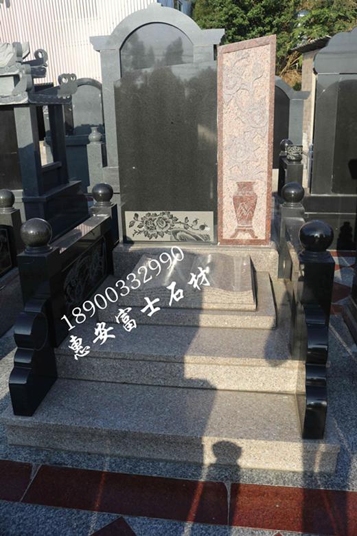 惠安墓碑加工厂供应定制传统墓碑 城市公墓墓碑 新式传统型墓碑示例图1