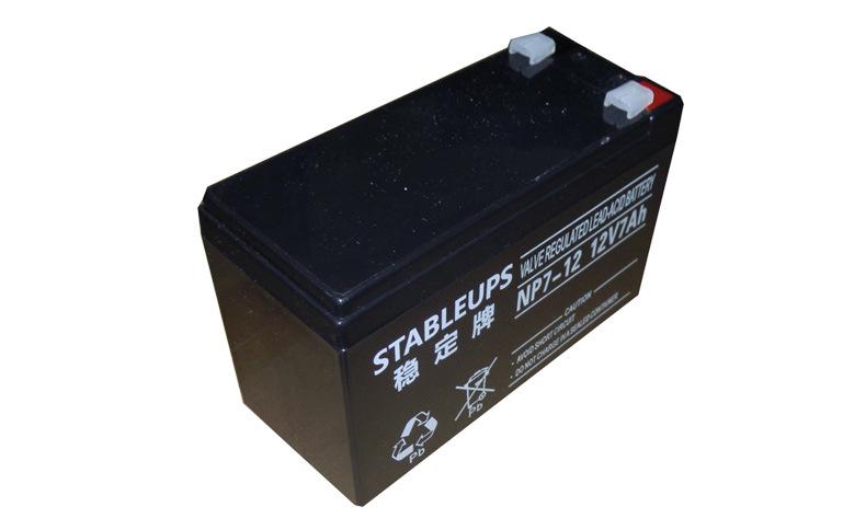 稳定牌铅酸免维护蓄电池 12V7Ah 不间断电源ups 太阳能路灯储能蓄电池 厂家直销示例图7