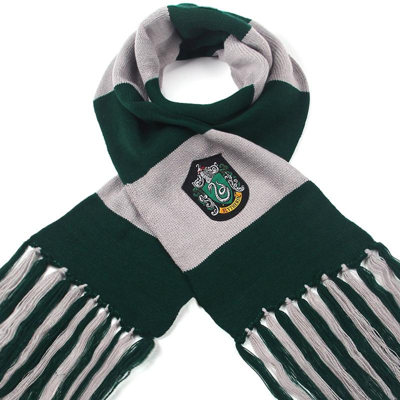 針織哈利波特COS四大學院圍巾男女可愛雙層圍巾萬圣節化妝圍巾