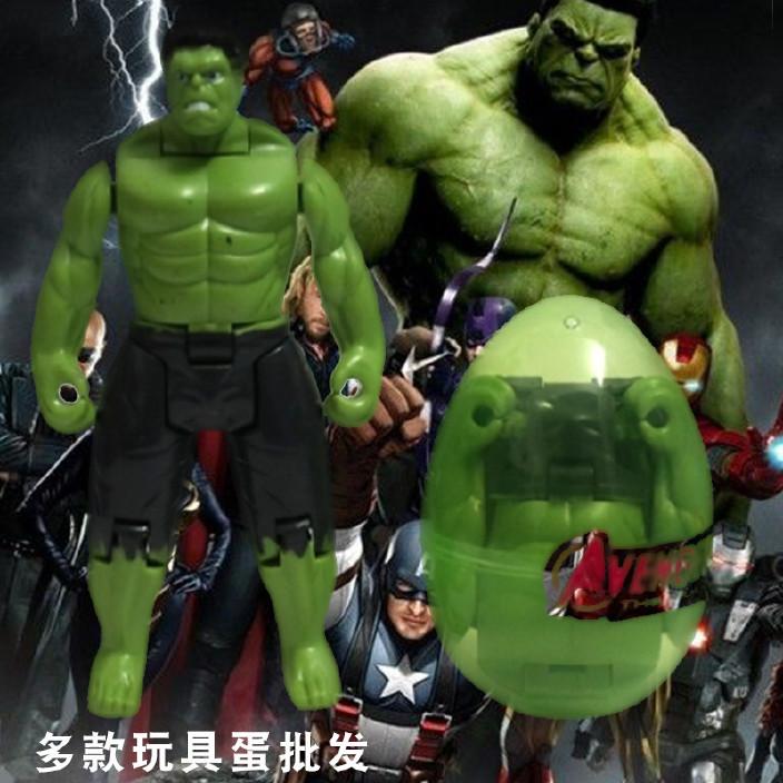 复仇者联盟绿巨人美国队长钢铁侠透明玩具公仔手办模型扭蛋 批发图片