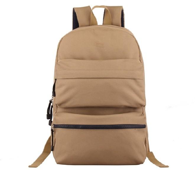 2016新款简约纯色双口袋背包 时尚休闲款运动包学生书包直销示例图24