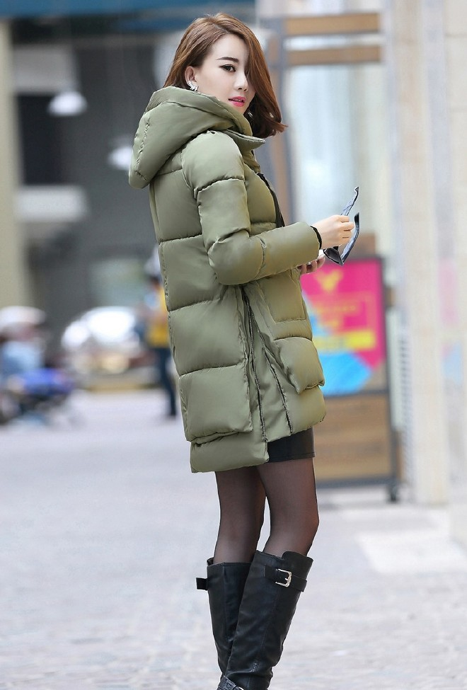 批发2018反季欧美潮流中长款羽绒棉外套大码修身显瘦棉服加大加肥图片