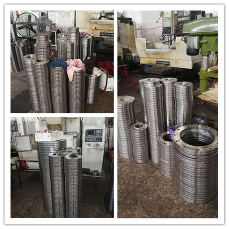 直销国标碳钢空调法兰 冲压法兰盘 板式平焊法兰片异型法兰加工示例图9