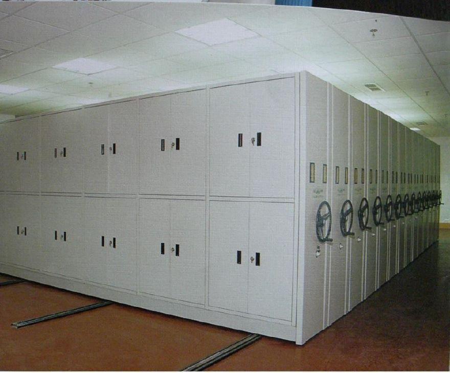 图书馆书架|标本密集柜|底图密集柜|油画密集柜|移动货架示例图9