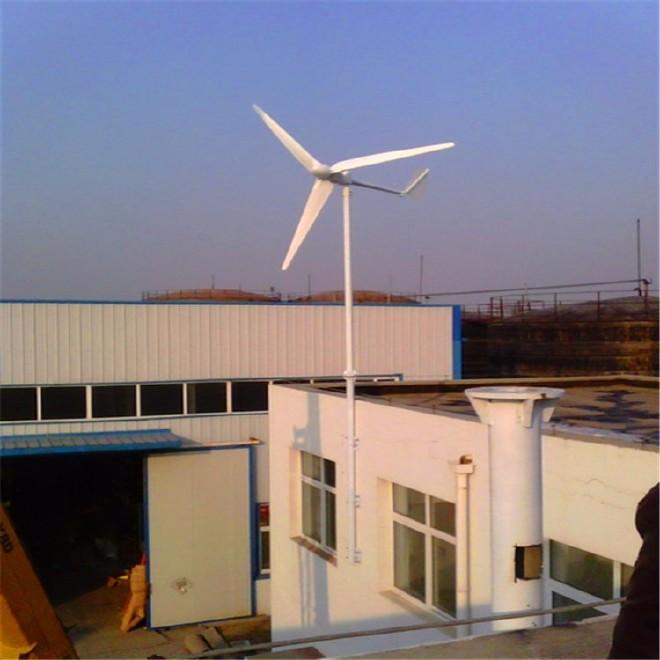 山东发电机厂家出售水平轴风力发电机3kw微风启动发电机组图片