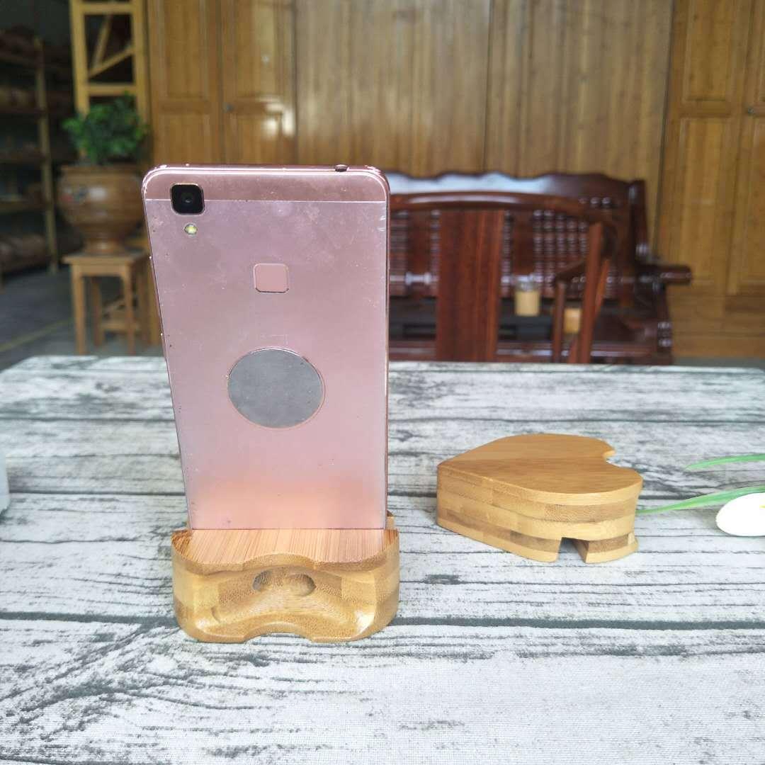 竹制手机支架 手机底座 竹木手机扩音器 多功能手机支架示例图6