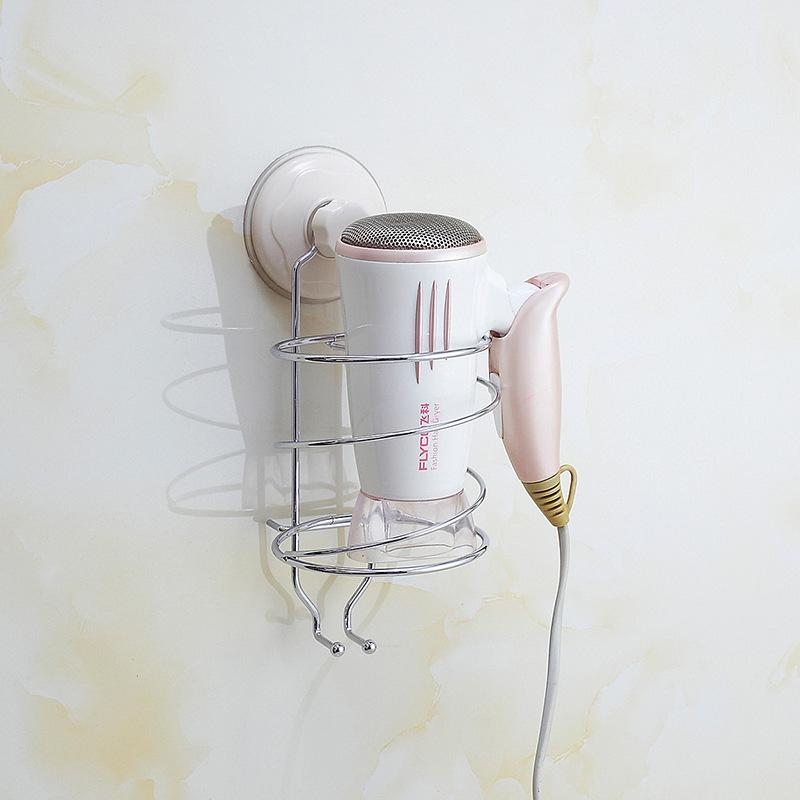 厂家批发 创意不锈钢墙面电吹风置物架 家居日用品吹风机收纳架