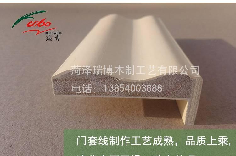 供应各种全实木白色L形涂泥石膏门套线窗套线石膏线示例图7