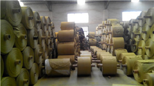 PP编织袋筒料生产厂家直销黄色半成品布卷 开边编织布可加工定做示例图9